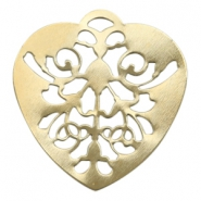 Charms TQ metal Baroque heart Gold (Nickel Free)