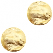 Charms TQ metal 30mm flat Gold (Nickel Free)