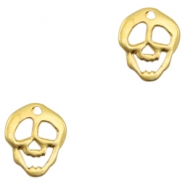 Charms TQ metal skull Gold (Nickel Free)
