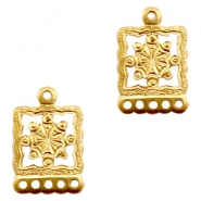 Charms TQ metal with 5 loops Gold (Nickel Free)