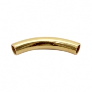 Findings TQ metal tube 45x8mm Gold (Nickel Free)