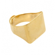 Findings TQ metal signet ring Gold (Nickel Free)