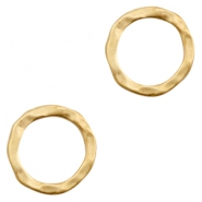 Charms TQ metal ring 18mm Matt Gold (Nickel Free)