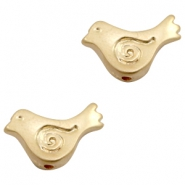 Beads TQ metal bird Matt Gold (Nickel Free)