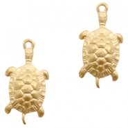 Charms TQ metal turtle Matt Gold (Nickel Free)