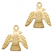 Charms TQ metal bird Matt Gold (Nickel Free)