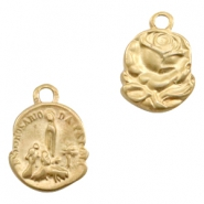 Charms TQ metal rose/ patron saint Matt Gold (Nickel Free)