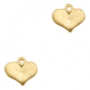 Charms TQ metal heart Matt Gold (Nickel Free)