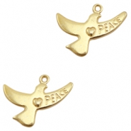 Charms TQ metal bird ♥ peace Gold (Nickel Free)