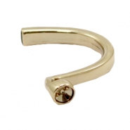 Findings TQ metal bracelet with setting for Swarovski SS39 Gold (Nickel Free)