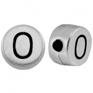 Metal-look beads letter O Antique Silver
