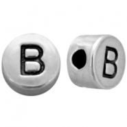 Metal-look beads letter B Antique Silver