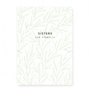 "Jewellery cards ""Sisters for eternity"" White-Green"