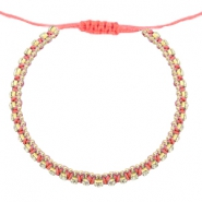 Ready-made Bracelets strass Coral Pink-Crystal