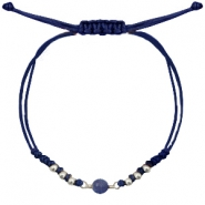 Ready-made Bracelets stone Dark Blue-Silver