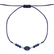 Ready-made Bracelets Stone&Faceted Dark Blue-Light Gold