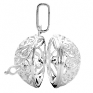 Metal silver charms Medallion Silver