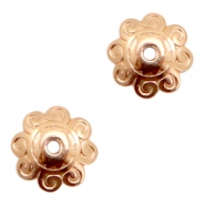 DQ European metal beads flower Rose Gold (nickel free)