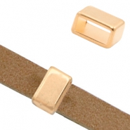 DQ European metal sliders rectangle Ø10.2x4.4mm Rose Gold (nickel free)