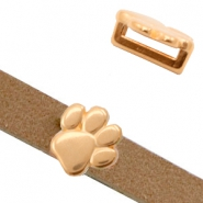 DQ European metal sliders animal paw Ø10.2x2.2mm Rose Gold (nickel free)