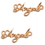 "DQ European metal charms connector ""Angel"" Rose Gold (nickel free)"