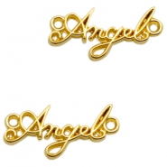 "DQ European metal charms connector ""Angel"" Gold (nickel free)"