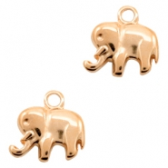 DQ European metal charms Elephant Rose Gold (nickel free)