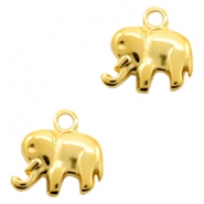 DQ European metal charms Elephant Gold (nickel free)