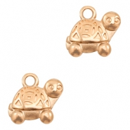 DQ European metal charms turtle Rose Gold (nickel free)