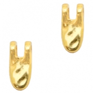 DQ European metal charms tooth Gold (nickel free)