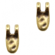 DQ European metal charms tooth Antique Bronze (nickel free)