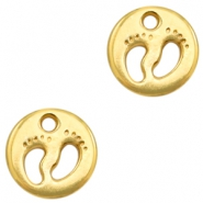 DQ European metal charms feet Gold (nickel free)