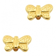 DQ European metal beads butterfly Gold (nickel free)