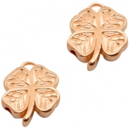 DQ European metal beads clover Rose Gold (nickel free)