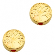 DQ European metal beads disc tree Gold (nickel free)