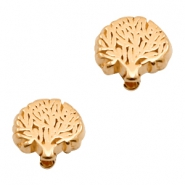 DQ European metal beads disc tree Rose Gold (nickel free)