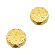 DQ European metal beads disc flower Gold (nickel free)