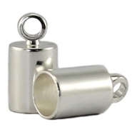 DQ end cap 3mm DQ Silver durable plating