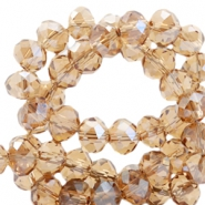 Top faceted beads 8x6mm disc Topaz-Top Shine Coating