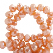 Top faceted beads 4x3mm disc Sweet Orange-Top Shine Coating