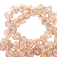 Top faceted beads 8x6mm disc Light Topaz-Top Shine Coating