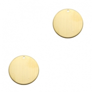 ImpressArt stamping blanks charms 19mm Brass Light Gold