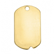 ImpressArt stamping blanks name tag notch 32x19mm Brass Light Gold