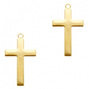 ImpressArt stamping blanks charms cross 33x19mm Brass Light Gold
