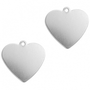 ImpressArt stamping blanks charms heart 13mm Aluminum Silver