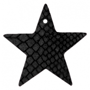 DQ European leather pendants star Onyx Black