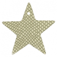 DQ European leather pendants star Willow Green