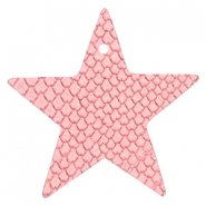 DQ European leather pendants star Amaranth Pink