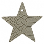 DQ European leather pendants star Vaporous Grey