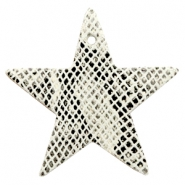 DQ European leather pendants star Snake White